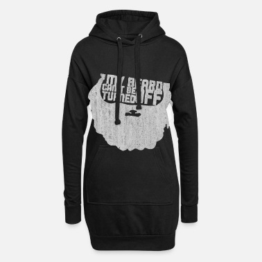 Hipster beard - Women's Hoodie Dress