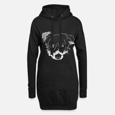 Chen Aquarell border collie - Frauen Hoodiekleid