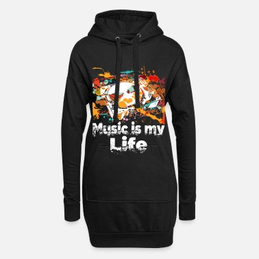 Turntable Music is my life DJ Pitch Turntable Rave - Women's Hoodie Dress