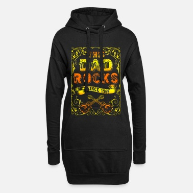 Papaw Rock and Roll 1969 dad and father 50th birthday - Women's Hoodie Dress