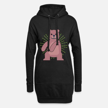 Bear Rescue Floss Dance Move Bear - Women's Hoodie Dress
