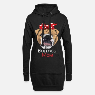 Bulldog Womens Proud English Bulldog Mom Dog Owner Women G - Women's Hoodie Dress