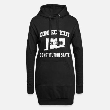 Constitution Connecticut State Line The Constitution State - Women's Hoodie Dress