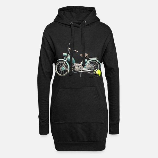 Bikes And Cars Collection Sudaderas - SR Simson Moped DDR oldschool ossi best roller GDR - Vestido sudadera mujer negro