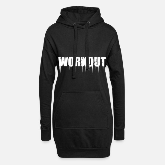 Body Builder Hoodies & Sweatshirts - WorkOut - Women's Hoodie Dress black