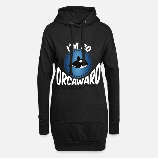 Whale Sweat-shirts - Funny Kids Whale Saying Design Pour les fans de l'océan - Robe sweat Femme noir