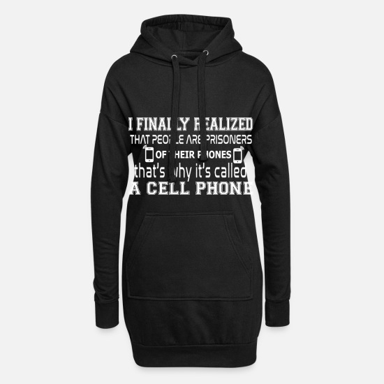 Cool Hoodies & Sweatshirts - Mobile Cool Quote Prison Freedom Gift - Women's Hoodie Dress black