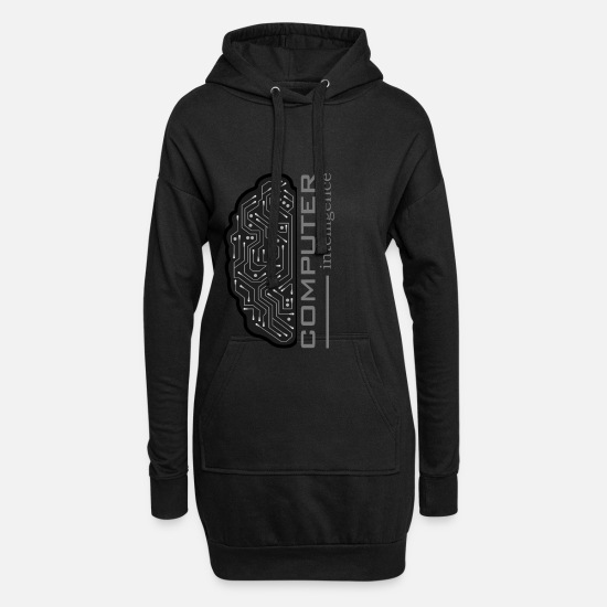 Website Hoodies & Sweatshirts - computer - Women's Hoodie Dress black