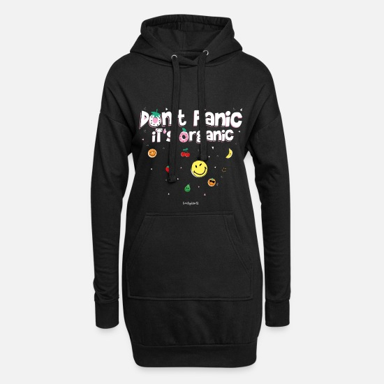Official License Tröjor & hoodies - SmileyWorld Don't Panic It's Organic - Hoodie klänning dam svart