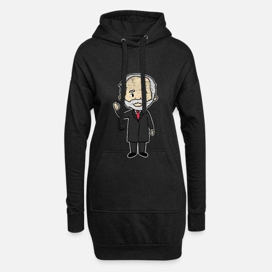 Gift Idea Hoodies & Sweatshirts - Pyotr Tchaikovsky composer - Women's Hoodie Dress black