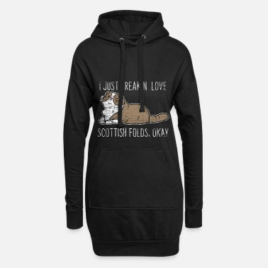 Mothers Day Scottish fold gift - Women's Hoodie Dress