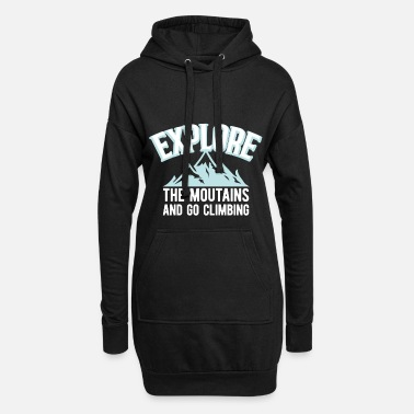 Mountain Mountains mountaineering mountaineer mountains climbing - Women's Hoodie Dress