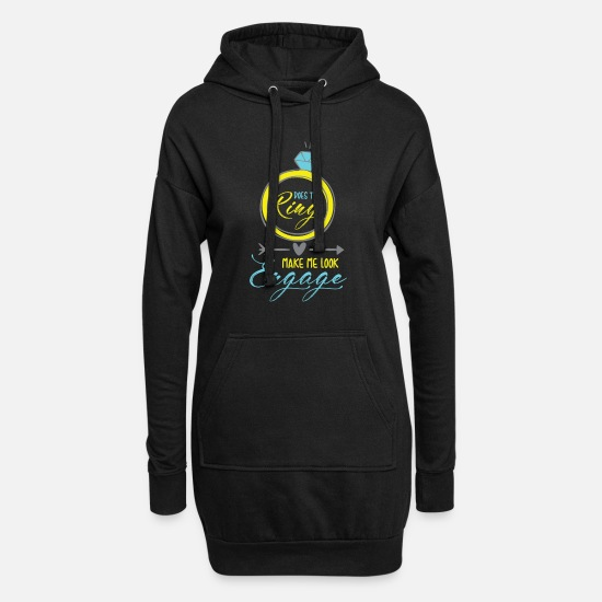 Engagement Hoodies & Sweatshirts - engagement - Women's Hoodie Dress black