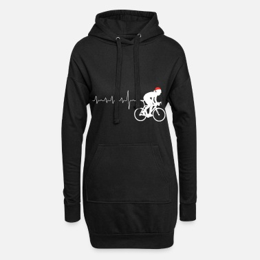 Stunt Cyclist BMX heartbeat Christmas present - Women's Hoodie Dress