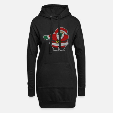 Production Year Dabbing Santa Claus graphic Christmas Presents - Women's Hoodie Dress