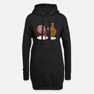 Glass Stop thinking about catching a drink - Women's Hoodie Dress