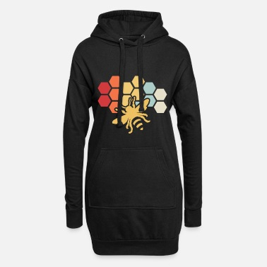 Bee Retro Vintage Beekeeper Birthday Gift - Women's Hoodie Dress
