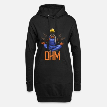 Worker Ohm Meditating Electrician Construction - Hoodie klänning dam