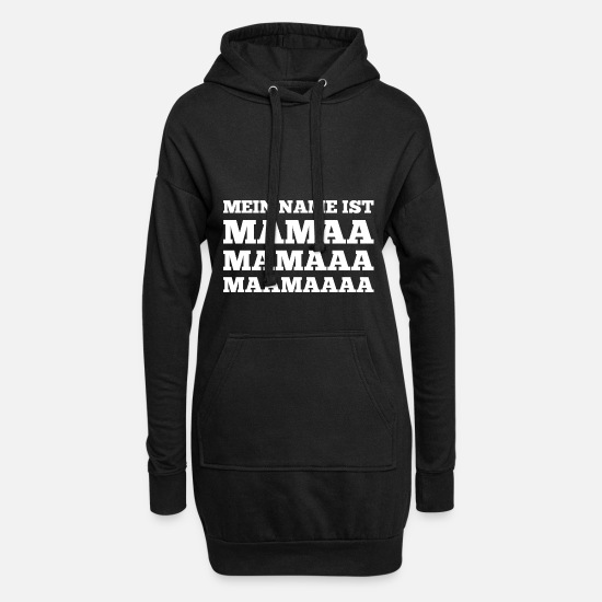 Mother Hoodies & Sweatshirts - My name is mom - Women's Hoodie Dress black