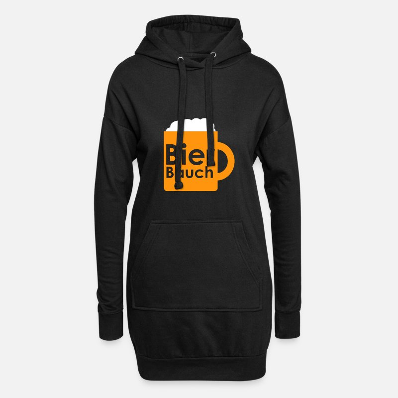 Alcohol Hoodies & Sweatshirts - beer belly - Women's Hoodie Dress black