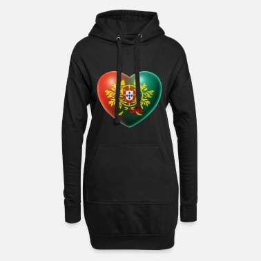 Portugal Heart (Portugal / Portuguesa) 02 - Women's Hoodie Dress