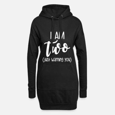 To Jeg er to - Hoodie kjole dame