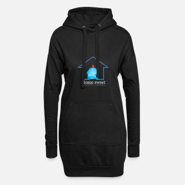 Home &amp Home - Frauen Hoodiekleid