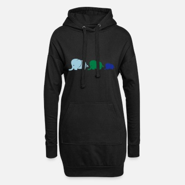 India elefanten_familie_2 - Women's Hoodie Dress