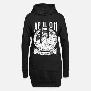 Production Year Apollo Moon Landing 50 Years Anniversary product - Women's Hoodie Dress