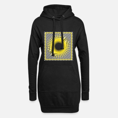 Ornament Geometry stripes sun abstract square - Women's Hoodie Dress
