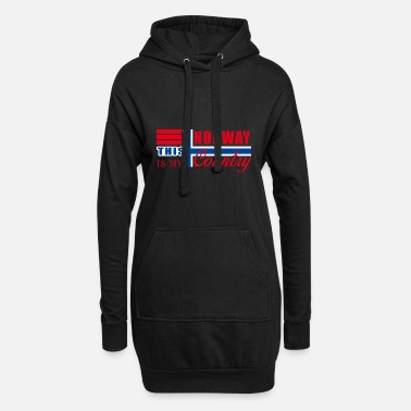 Norge Norge Norge - Hoodie kjole dame