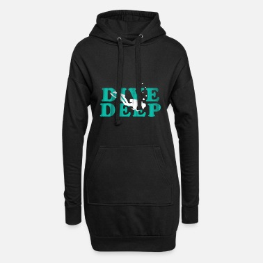 Sports dive dive diver gift sea diving sport wave - Women's Hoodie Dress