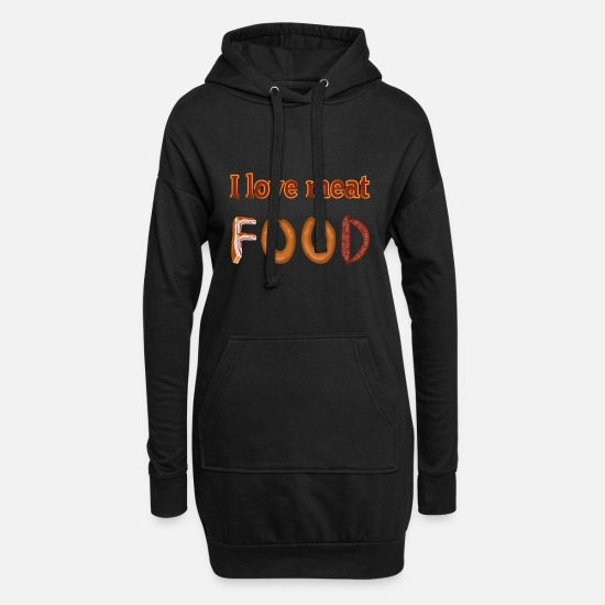 Lunch Hoodies & Sweatshirts - Food cooking sausage love - Women's Hoodie Dress black