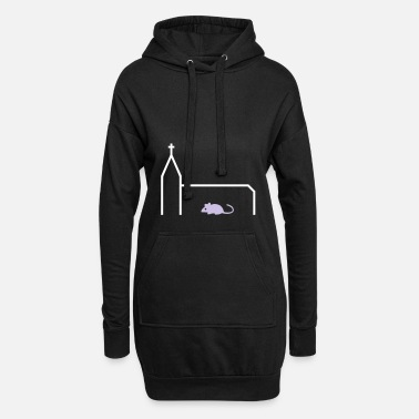 Mouse Church mouse (church, mouse) - Women's Hoodie Dress