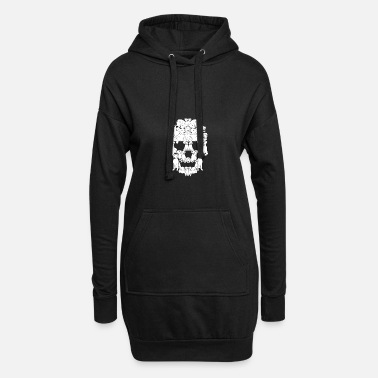 Collie Dog Tshirt Skull Mum Gift I love - Women's Hoodie Dress