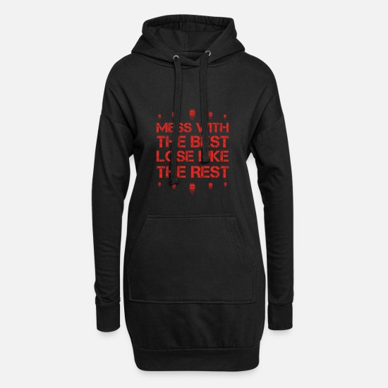 Birthday Hoodies & Sweatshirts - Mess with best loose king queen beard hair beard pn - Women's Hoodie Dress black