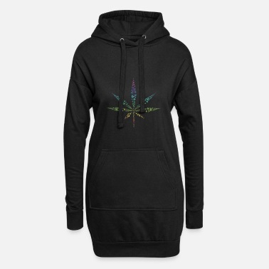 Cannabis feuille de cannabis coloré - Robe sweat Femme
