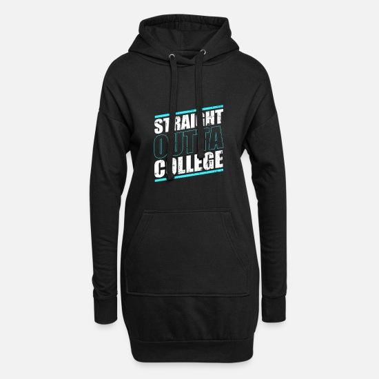 Studies Hoodies & Sweatshirts - Student College University degree degree - Women's Hoodie Dress black