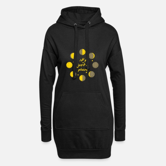 Physik Pullover & Hoodies - it s just a phase astronomie stern physik galaxie - Frauen Hoodiekleid Schwarz