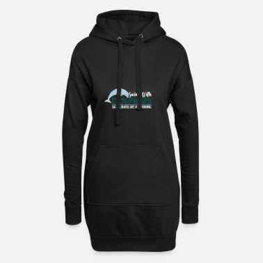 Open Sea dolphins sunshine water swimming - Women's Hoodie Dress