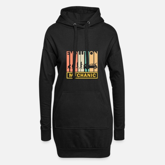 Hammer Hoodies & Sweatshirts - Mechanic Shirt · Tool · Neanderthal man - Women's Hoodie Dress black