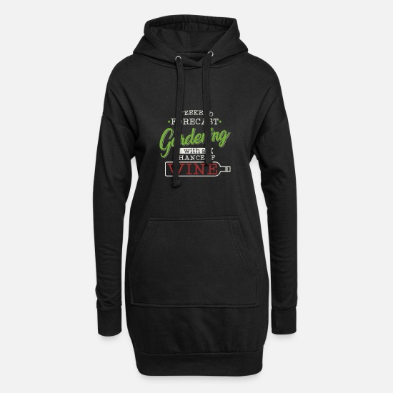 Flowers Hoodies & Sweatshirts - Gardening - Gardening - Women's Hoodie Dress black