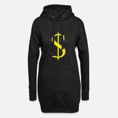 Us $, Dollar Sign, US Valuta, US Dolar - Hoodie kjole dame