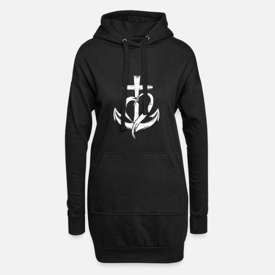 Religious Hoodies & Sweatshirts - Trust christian and religious person gift - Women's Hoodie Dress black