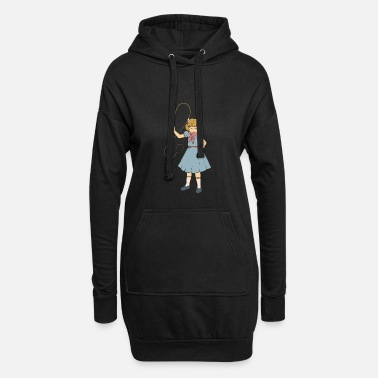 Illustration Whip Girl - Clementine - Fan d'horreur Punk Goth - Robe sweat Femme