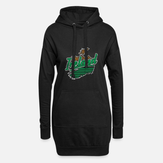Trèfle Irlande Sweat-shirts - Irlande - Robe sweat Femme noir