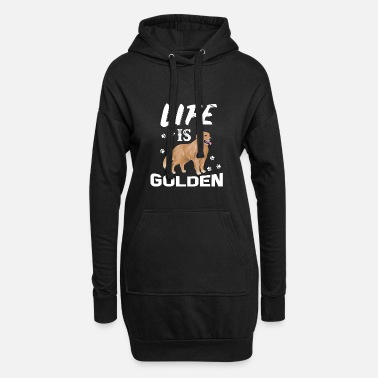 Golden Retriever Life is Golden - Golden Retriever - Women's Hoodie Dress
