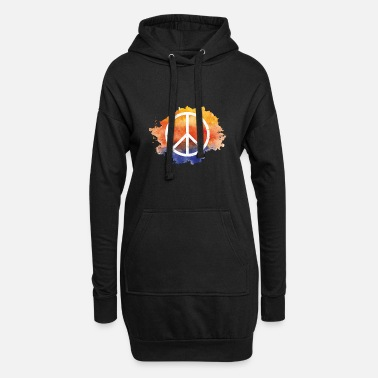 Symbol Symbol peace gift world peace hippie - Women's Hoodie Dress
