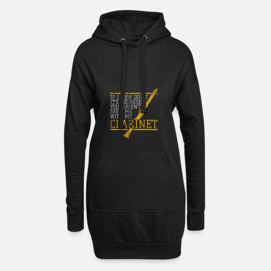 Gift Idea Hoodies & Sweatshirts - Composing a clarinet - Women's Hoodie Dress black
