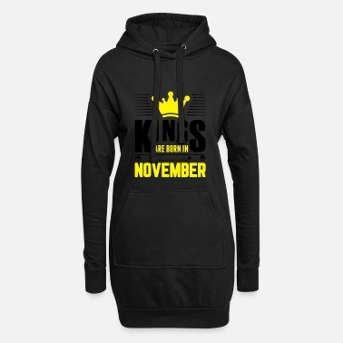 Kingdom Kings Are Born In November - Women's Hoodie Dress